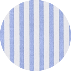 hellblau/weiß gestreift