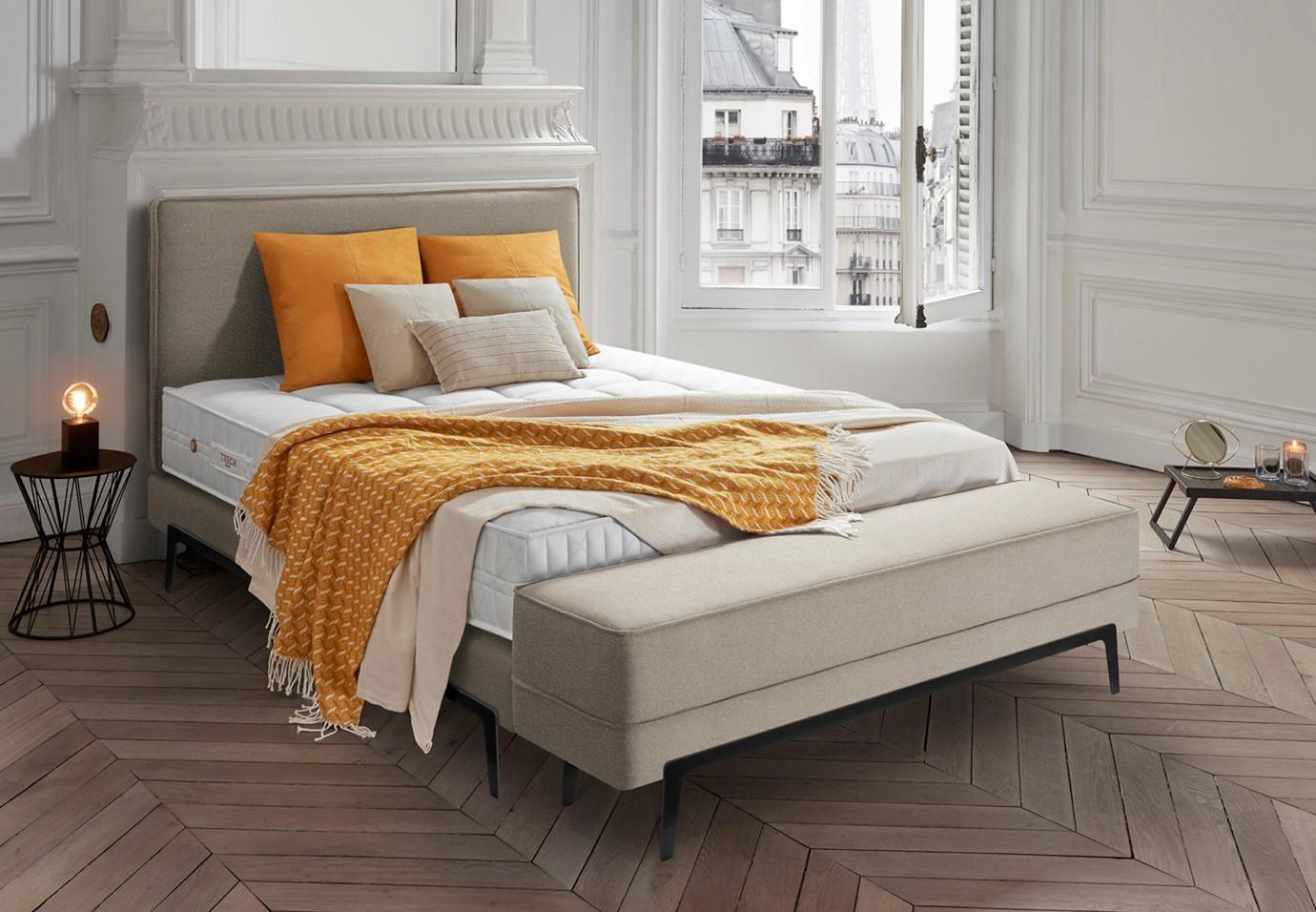 Boxspringbett von Treca in beige mit passender Bettbank