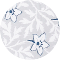 flower grey/blue