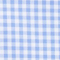 hellblau/weiß kariert