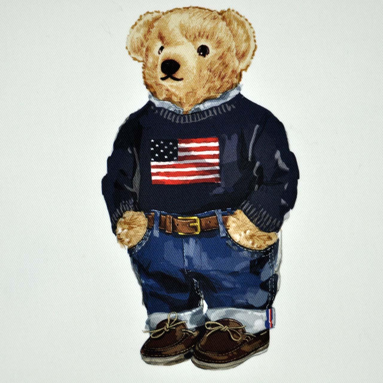 """RALPH LAUREN - Dekokissenbezug """"Flag Sweater Bear"""""""